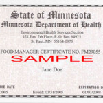 Food Manager Certification MN
