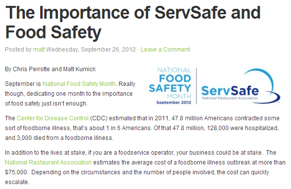 Restaurants Urged to Get NRFSP or ServSafe MN Training and ...